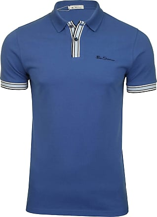 Ben Sherman Mens MOD Stripe Detail Polo Shirt, Blue (Blue 150), X-Large (Size:XL)