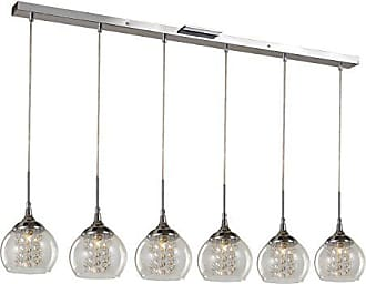 Trans Globe Lighting Trans Globe Lighting MDN-1219 Indoor Amore 6 Pendant, Polished Chrome