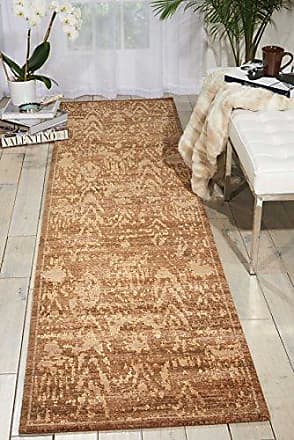 Nourison Silken Allure (SLK17) Chocolate Runner Area Rug, 2-Feet 5-Inches by 10-Feet (25 x 10)