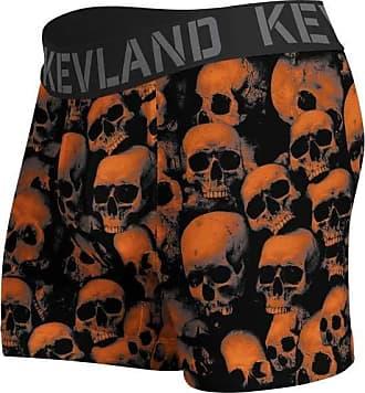 Kevland Underwear cueca boxer kevland orange skulls laranja (1, GG)