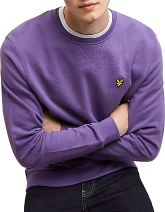 Lyle & Scott Lyle and Scott Mens Crew Neck Sweatshirt - Cotton - L Violet