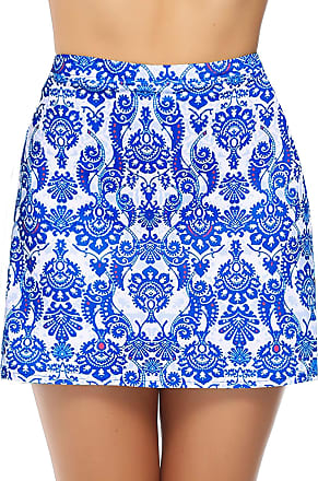 iClosam Womens Athletic Active Skort Skirt Sports Performance Skort Built-in Shorts Lightweight Skirt for Golf Tennis Running Workout (Lake Blue, L)