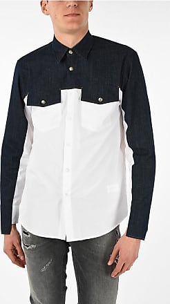 Just Cavalli Spread Collar Shirt with Denim Details size 44