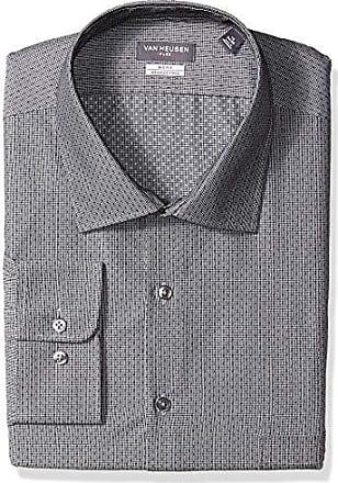 Van Heusen Mens Tall Dress Shirts Big Fit Flex Check, Dusk, 18.5 Neck 34-35 Sleeve