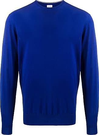Aspesi Suéter decote careca de lã - Azul