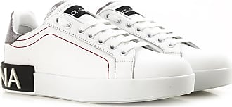 Dolce & Gabbana Sneakers for Women On Sale, White, Leather, 2017, 10 11 5 6 7 8 9
