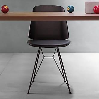 ZANOTTA Design June 2056 Dining Chair Black Oak & Leather