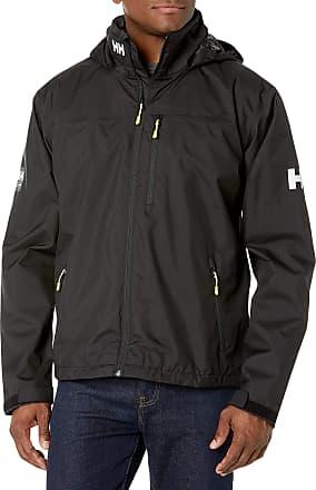 Helly Hansen Mens Crew Hooded Jacke Jacket, Black, M