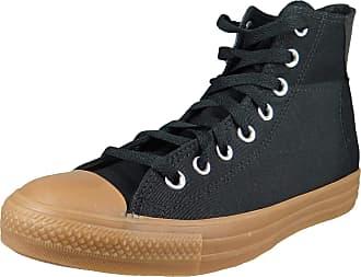 Converse Mens Shoes 168826C Chuck Taylor All Star HI Textile Black Honey Black Size: 11.5 UK
