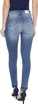 Sawary Calça Jeans Sawary Skinny Desfiada Azul