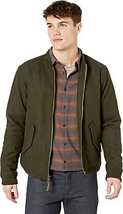Rvca Mens Collective Bomber Jacket, Olive Heather, M