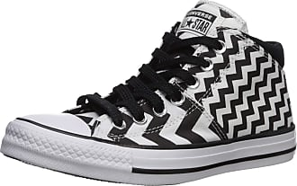 Converse Womens Chuck Taylor All Star Madison Glam Dunk Sneaker, White/Black/White, 3.5 UK