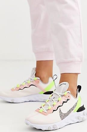 Nike Zapatillas en verde y rosa React Element 55 de Nike