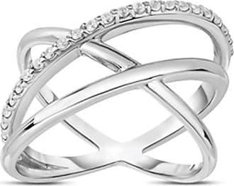 Zales 1/5 CT. T.w. Diamond Three Loop Ring in Sterling Silver