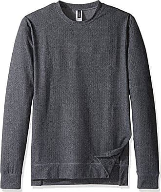 Onzie Mens Crew Neck Pullover, Charcoal, Large/X-Large