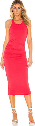 Michael Stars Racer Back Midi Dress in Red