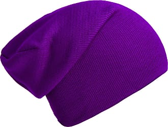 DonDon winter hat slouch beanie warm classical design modern and soft purple