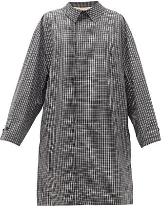 Raf Simons Single-breasted Checked Cotton-blend Coat - Womens - Black White