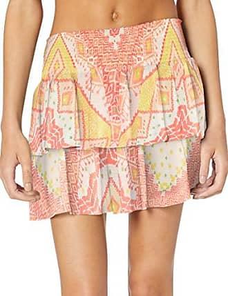 Ramy Brook Womens Printed Sibyl Mini Skirt, Pink Combo, Extra Small
