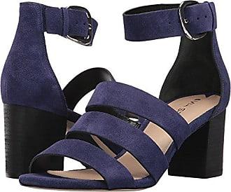 Via Spiga Womens Carys Block Heel Sandal, Marina Blue Suede, 5 M US