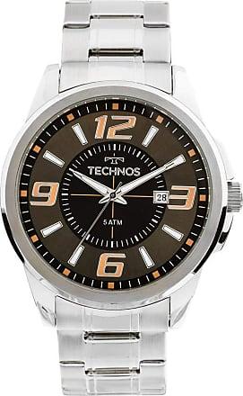 Technos Relógio Masculino Technos Analógico 2115Kzz/1C Prata