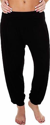 Love my Fashions Womens Pants Trousers Alibaba Harem Ankle Cuff, Plain - Black, XX-Large/XXX-Large
