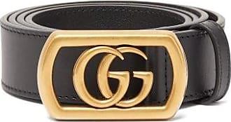 Gucci Framed Gg Leather Belt - Mens - Black