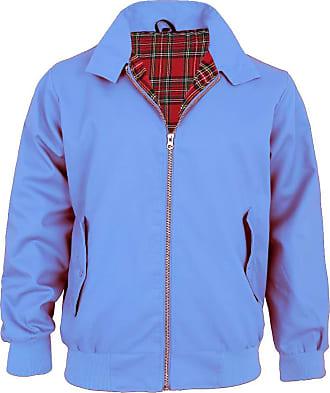 Parsa Fashions Malaika Harrington Jacket Mens Classic Vintage Retro Scooter 1970S Bomber Trendy Coat,Sky Blue,XXL