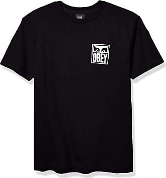 Obey Mens Eyes ICON Basic TEE T-Shirt, Black, S