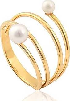 Coliseu anel de ouro 18k com pérolas