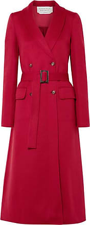 Gabriela Hearst Joaquin Double-breasted Pleated Cashmere Coat - Red