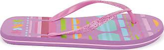 Urban Beach Ladies Sunset Flip Flops Sandals FW580 (Size 7, Light Purple)