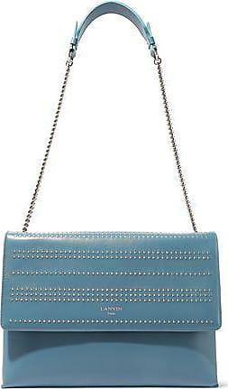 9756a287aed Lanvin Lanvin Woman Sugar Medium Studded Leather Shoulder Bag Light Blue  Size