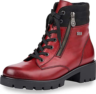 Remonte Lace-Up Boots Red Size: 8.5 UK