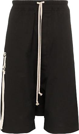 Rick Owens Pod drop-crotch shorts - Preto