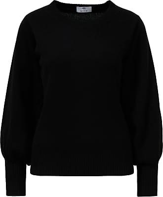 Allude Klassischer Pullover mit Rundhalsausschnitt Schwarz