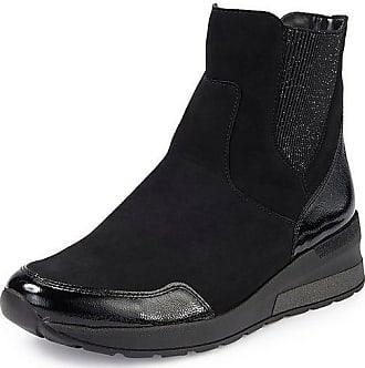 Flache Stiefeletten in Schwarz: Shoppe jetzt bis zu −53