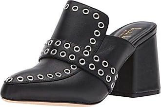 Nicole Miller Womens Andria-NM Mule Black Leather 6 M US