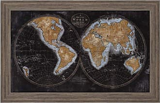 Paragon Picture Gallery Paragon The World in Gold Framed Wall Art - 1624