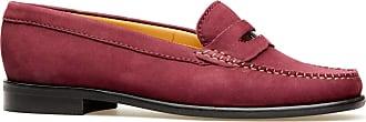 Van Dal Womens Hampden X Wide Fit Garnet Nubuck Penny Loafer Flats, Size 37 EU