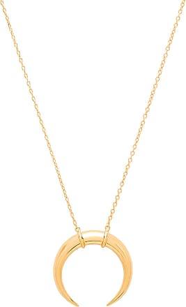 Gorjana Cayne Crescent Pendant Necklace in Metallic Gold