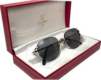 51174ab99f50 Cartier Salisbury Rimless Platine 51mm Brown Gradient Lens France Sunglasses