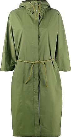 Yves Salomon drawstring-waist hooded coat - Green