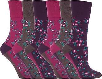 SockShop 6 Pairs of Sock Shop Everyday Gentle Grip Socks Ladies 4-8 See Multi Variations and Designs (6 x RH58)