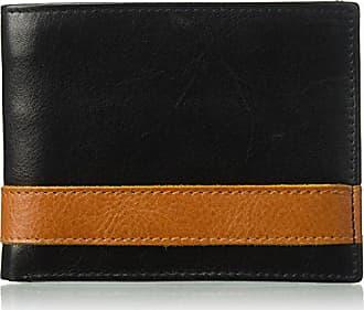 Florsheim Mens Two Tone BiFold Wallet, black/tan, M