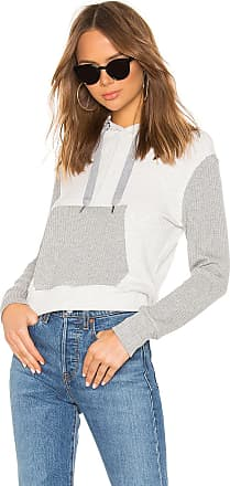 Splendid Sylvie Rib Zip Up Hoodie in Gray