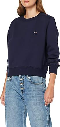 Tommy Jeans Womens Tjw Tommy Classics Crew Sweatshirt, (Black Iris 002), X-Small