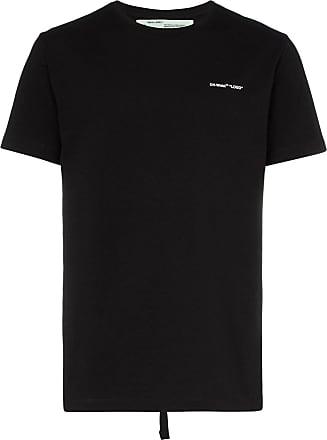 18159d1e3502 Off-white logo print short-sleeved cotton T-shirt - Black