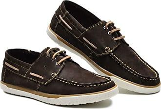 Generico sapato docksider masculino em legitimo couro bovino tipo nobuck numeração 37 ao 45 cla modelo G110 cla (37, nobuck marron(cafe))