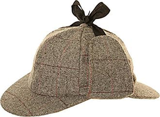 Hawkins Tweed Deer Stalkers Sherlock Holmes Herringbone Tweed (59cm, Light Grey)
